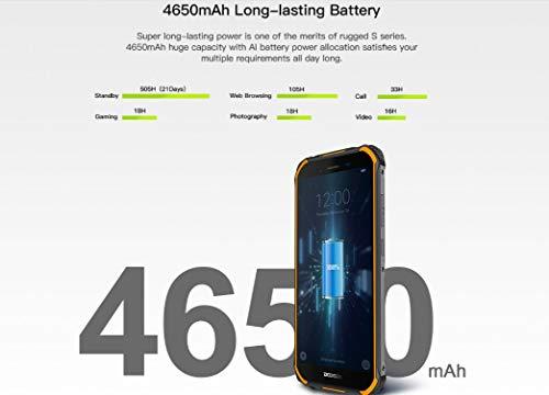 【2019】DOOGEE S40 (3GB+32GB) 4G Android 9.0 Sólido Móvil Libre Robusto - 5.5'' HD (Gorilla Glass 4) IP68/IP69K Militar Resistente IP68 Impermeable Smartphone, 4650mAh batería,DUAL SIM,GPS,NFC - naranja