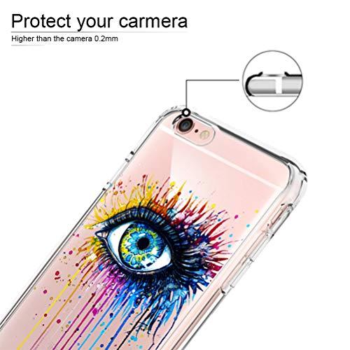 [3 Pack] Funda iPhone 6, Funda iPhone 6S, Funda de Silicona Blossom01 Ultra Suave Funda TPU Silicona con Dibujo Animado Lindo para iPhone 6 / 6S - Flamingo & Jirafa & Pingüino