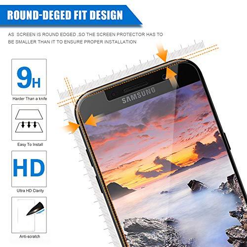[3 Unidades] Amonke Protector de Pantalla para Samsung Galaxy A5 2017 Cristal Templado, 9H Dureza Alta Definicion [Sin Cobertura Toda Pantalla] Vidrio Templado Screen Protector para Samsung A5 2017