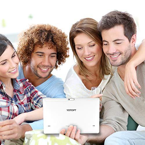 4G LTE Tablet 10 Pulgadas YOTOPT - Android 9.0, 4GB RAM y 64GB ROM, GPS/Bluetooth/WiFi Soporte (Negro)