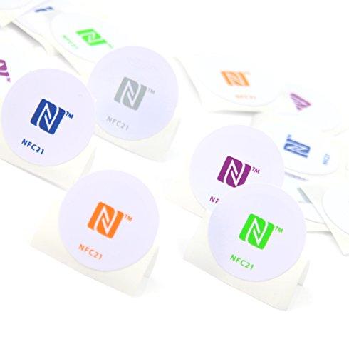 5 NFC Tag Pegatinas 215, para Chip como Amiibo Figuras, 30 mm, 100% Compatible, NXP NFC Chip NTAG 215