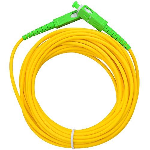 Acobonline Fiber óptica Cable SC/APC a SC/APC monomodo simplex 9/125,Operadores Movistar Jazztel Vodafone Orange Amena Masmovil Yoigo (3 M)