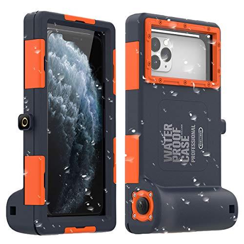 "AICase Funda Impermeable Universal,15m Foto Submarina Profesional Móvil Impermeable para iPhone 11 Pro MAX XS MAX XR X 8 7 6S Plus,Funda estanca para Galaxy Note10 10 s9 S9 de hasta 6.8"""