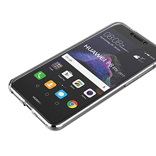 AICEK Funda Huawei P8 Lite 2017, Transparente Silicona 360°Full Body Fundas para Huawei P8 Lite 2017 Carcasa Silicona Funda Case