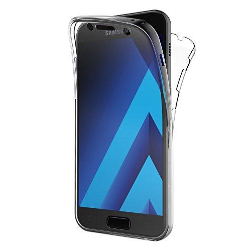 """AICEK Funda Samsung Galaxy A5 2017, Transparente Silicona 360°Full Body Fundas para Samsung A5 2017 Carcasa Silicona Funda Case (SM-A520F 5.2"""")"""
