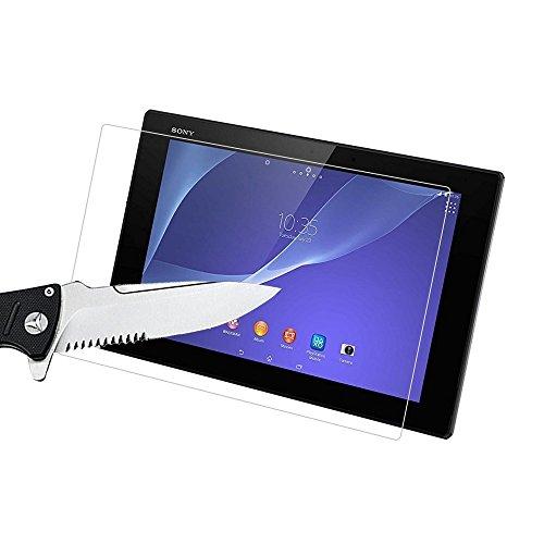 AIOIA Cristal Templado Premium para Sony Xperia Tablet Z2 【2 Paquete】, Protector de Pantalla de 9H Dureza para Sony Xperia Tablet Z2 Fácil de Instalar Sin Burbujas, Resistente a Arañazos y Rasguños