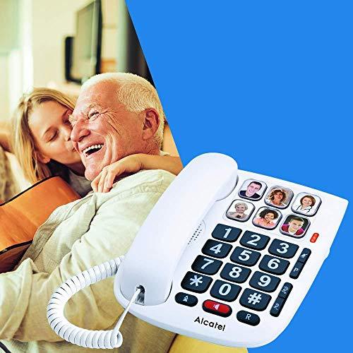 Alcatel Max 10 - Teléfono con cable para personas mayores, blanco