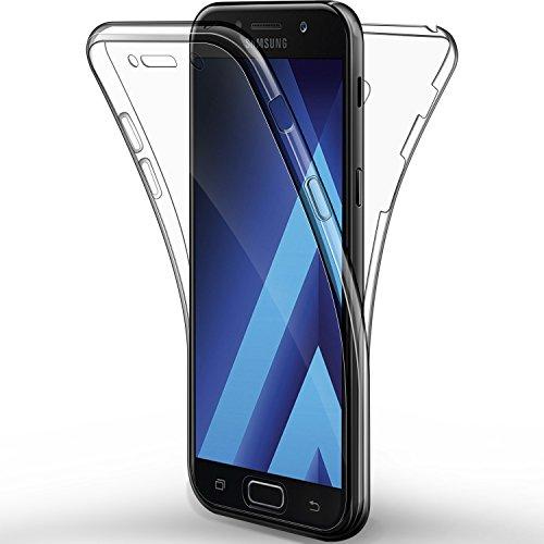 """alsatek–CarcasaDelantera y Trasera para Samsung Galaxy A52017 - De Gel - Protección Completa - Transparente - Antiarañazos - 2017-5,2"""""""