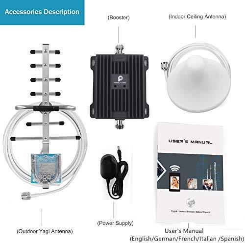 Amplificador de Señal Móvil Señal LTE 4G para Rurales, Urbanas, Casa, Oficina - Amplificador de Cobertura Móvil de 800MHz 2600MHz - Admite Todos los Teléfonos Móviles
