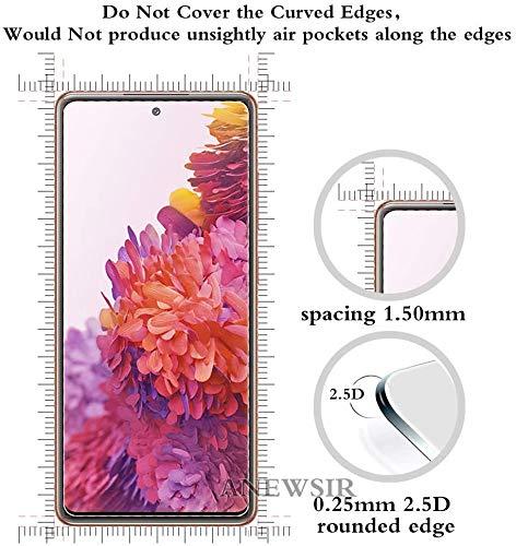 ANEWSIR [3 Pack] Cristal Templado para Samsung Galaxy S20 FE/FE 5G,[9H Dureza] [HD Film] [Resistente a rayones] [Fácil de instalar],Protector de Pantalla Samsung Galaxy S20 FE/FE 5G