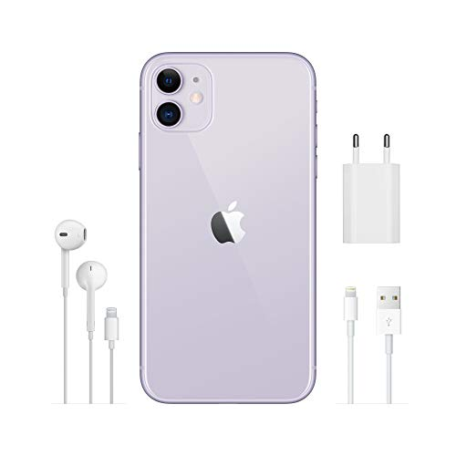 Apple iPhone 11 (64GB) - Malva (incluye Earpods, adaptador de corriente)