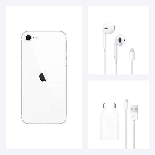 Apple iPhone SE (64GB) - en blanco (incluye Earpods, adaptador de corriente)