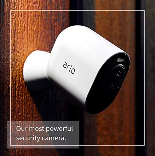 Arlo Ultra 4K - Sistema de seguridad y luz Smart (3 unidades, recargable, audio, libre de cables con visión diurna/nocturna, interior/exterior, funciona con Amazon Alexa)