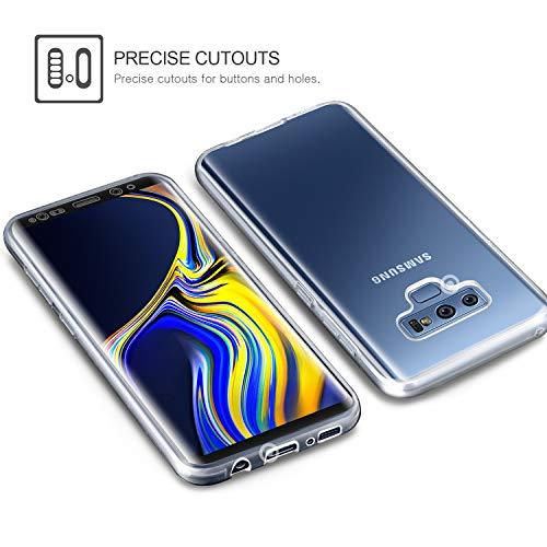 aroyi–Carcasa Samsung Galaxy Note 9–Funda, Transparente Silicona Gel Case completo 360degres Full Body Protección antiarañazos carcasa Funda para Samsung Galaxy Note 9