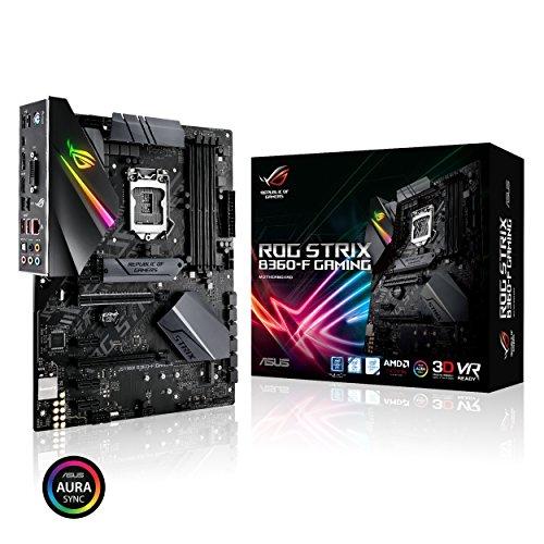 Asus Intel B360 ATX - Placa base gaming con Aura Sync RGB iluminación LED, pre-mounted I/O shield, dual M.2, onboard M.2 heatsink, SATA 6Gbps y USB 3.1 Gen 2.