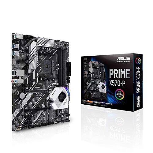 ASUS PRIME X570-P - Placa base ATX AMD AM4 con PCIe 4.0, 12 etapas de potencia DrMOS, DDR4 4400MHz, dos M.2, HDMI, SATA 6 Gb/s y conector USB 3.2 Gen. 2