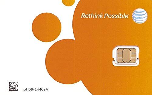 AT&T Tarjeta SIM de tamaño nano para iPhone 5s, 6, 7, 8 y iPad Air, con herramienta PIN de expulsión de iPhone