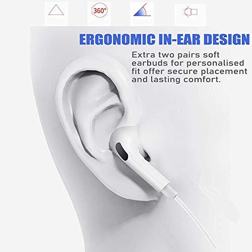 Auriculare/Auriculares Auriculares Cableados En El Ruido del Oído Aislando Auriculares Deportivos con Micrófono Incorporado y Control de Volumen Compatible con iPhone 8/8 Plus/X/XS/XR/11/11Pro