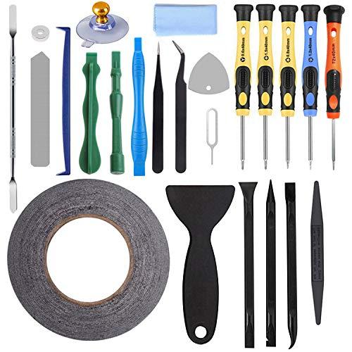 AUTOPkio 24 in 1 Repair Tool Set Kit de herramientas para iPhone 5/6/7/8/iPhonex/11/iPad/Huawei/Samsung, smartphone, multimedia u otros pequeños electrodomésticos