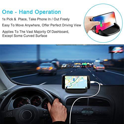 Beeasy Soporte Móvil para Coche,Universal Soporte Teléfono para Auto Phone Holder Car Mount Antideslizante Salpicadero para iPhone XS MAX X XR 8 7 6 6S Plus Samsung Galaxy/Huawei/OnePlus/Sony Xperia