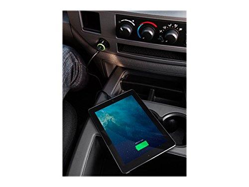 Belkin Cargador para Coche de 2,4 A con Cable Lightning, para iPhone12, 12Pro, 12Pro MAX, 12 Mini, 11, 11 Pro/Pro MAX, XS/XS MAX, XR, X, 8/8 Plus, iPad y iPod Touch, certificación MFi, Negro