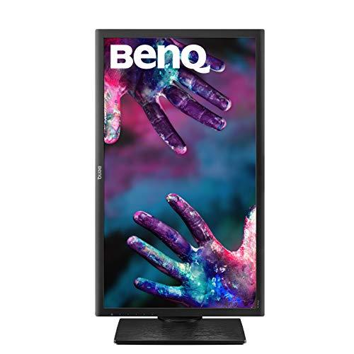 """BenQ PD2700Q - Monitor Profesional para Diseñadores de 27"""" 2K QHD (2560x1440, IPS, 100% Rec.709/sRGB, 10 bits, CAD/CAM, HDMI, DP, USB, Altura ajustable, Eye-care, Flicker-free, antireflejo) - Negro"""