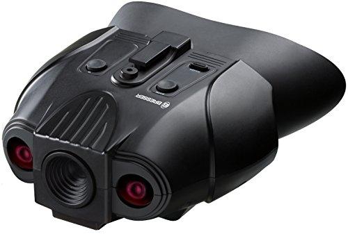Bresser Digital dispositivo de visión nocturna binocular 1x con batería integrada y soporte para la cabeza