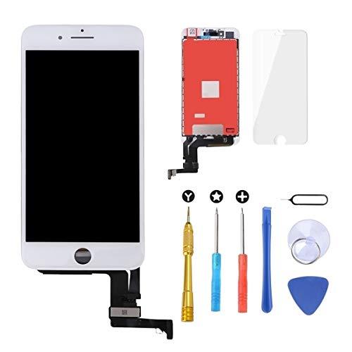 """Brinonac Pantalla para iPhone 7 Plus, 5.5"""" Táctil LCD de Repuesto Ensamblaje de Marco Digitalizador con Herramienta de reparación y Protector de Pantalla (Blanco)"""