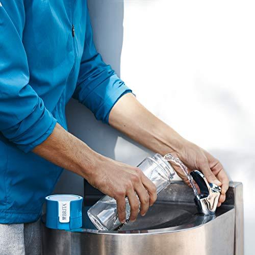 BRITA fill&go Vital – Botella con filtro de agua con tecnología MicroDisc – agua de excelente sabor para disfrutar en cualquier lugar – Botella de agua sin BPA de color lima