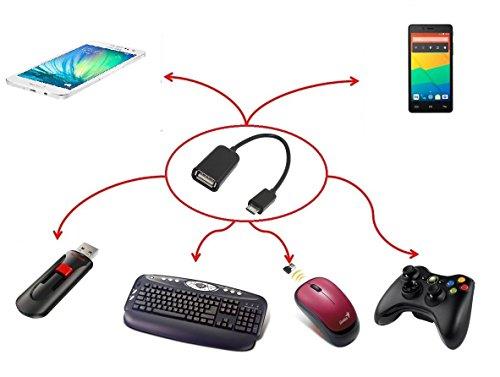 Cable USB Otg 2.0 Micro B Macho 0.20 Metros Negro