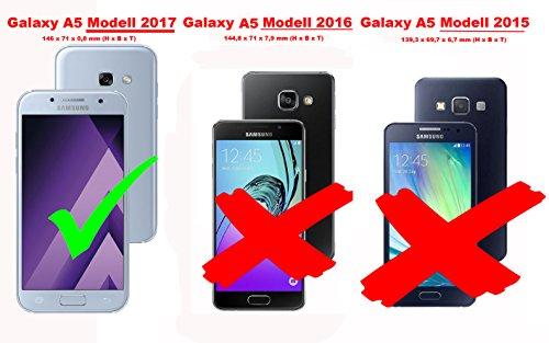 Cadorabo Funda Libro para Samsung Galaxy A5 2017 en Turquesa Menta - Cubierta Proteccíon con Cierre Magnético, Función de Suporte y 2 Ventanas- Etui Case Cover Carcasa