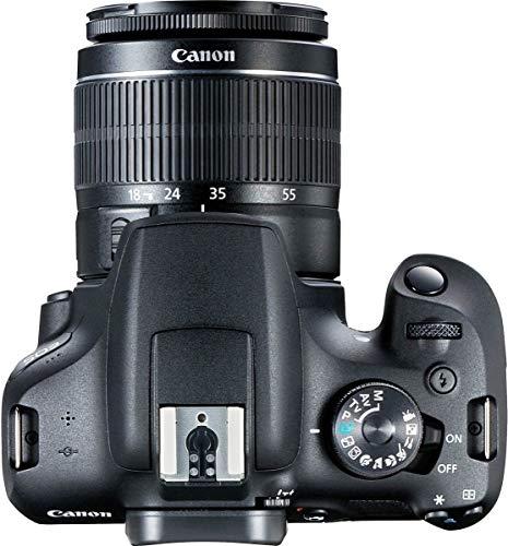 Canon EOS 2000D Kit Cámara Réflex 24.1MP WiFi NFC + Objetivo EF-S18-55mm + Bolsa + SD 16GB, Negro