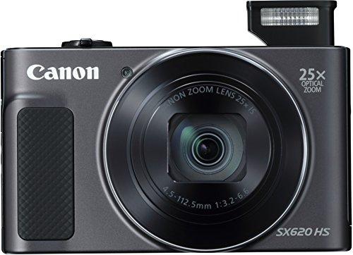 "Canon PowerShot SX620 HS - Cámara digital compacta de 20,2 Mp (pantalla de 3"", zoom óptico 25x, WiFi, NFC, video Full HD), negro"