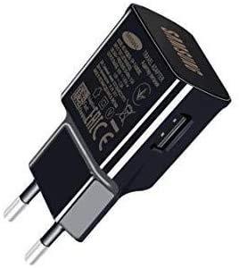 Cargador Adaptador de Corriente USB Compatible con Samsung EP-TA20EWE sin Embalaje, 9 V 1,67A - 5 V 2A Carga rápida, Blanco/Negro, para Galaxy S6 S7 S6 Edge S7 Edge (Negro)
