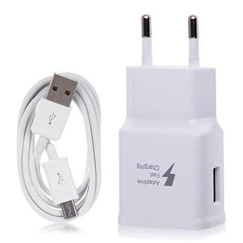 Cargador rápido modular Samsung –2amperios con cable de datos micro USB/cable de carga para modelos Samsung Modelos con puerto de carga micro USB