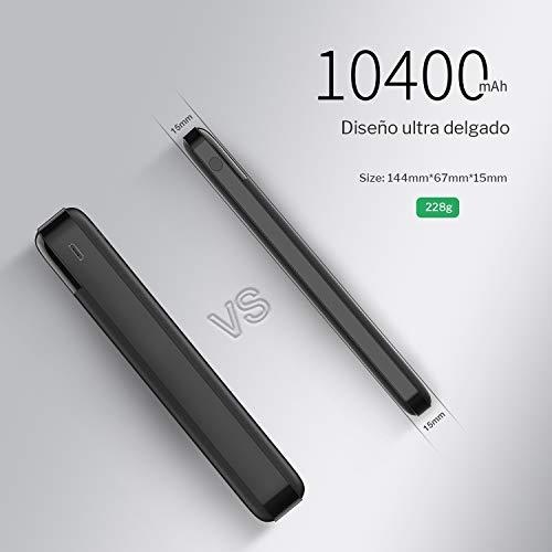 Charmast Powerbank 10400mah Bateria Externa Quick Charge 3.0 USB C Power Delivery Digital Display Cargador Portátil Micro USB Type C para iPhone X/XS/8/7/6,iPad,New iPad Pro,Huawei,Samsung Tablet
