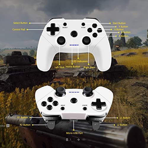 Clevo Mando para PC, Mando PC Gaming 2.4G Bluetooth Mando Inalámbrico Vibración Dual Compatible para PC/PSC/Android/TV Box (OTG Función