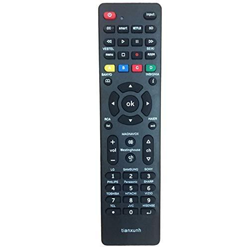 Control Remoto Universal de TV para Samsung, Vizio, LG, Sony, Panasonic, Smart TV, HAIER, Toshiba, Philips, TCL, Hitachi, Hisense - con 3D, Netflix, Botones APPS