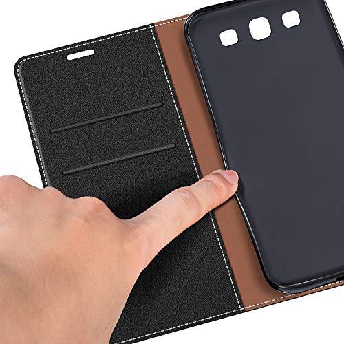 COODIO Funda Samsung Galaxy S3 con Tapa, Funda Movil Samsung S3, Funda Libro Galaxy S3 Carcasa Magnético Funda para Samsung Galaxy S3 / S3 Neo, Negro