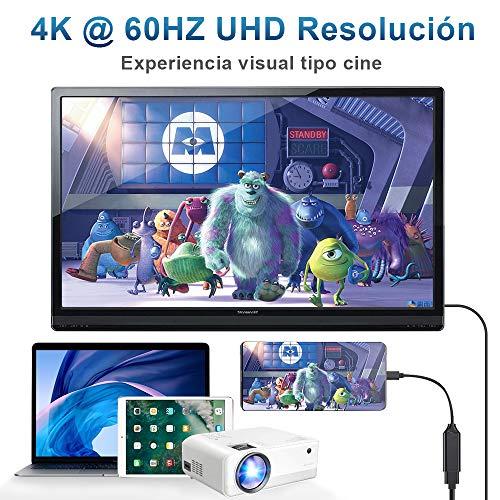 DIWUER Adaptador USB C a HDMI 4K, USB Tipo C a HDMI Cable Salida de Video y Audio para Thunderbolt 3 / MacBook Pro/iPad Pro/Huawei Mate30 20 10/ P30 20/ Samsung S8 S9 S10/ Note 8 9 Plug and Play