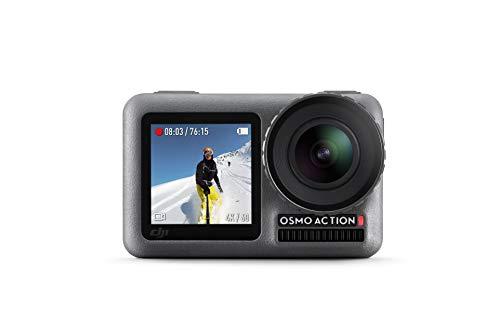 DJI Osmo Action Cam - Cámara digital con 11m Pantalla dual Resistente al agua 4K HDR-Video 12MP 145 ° Cámara angular - Negro