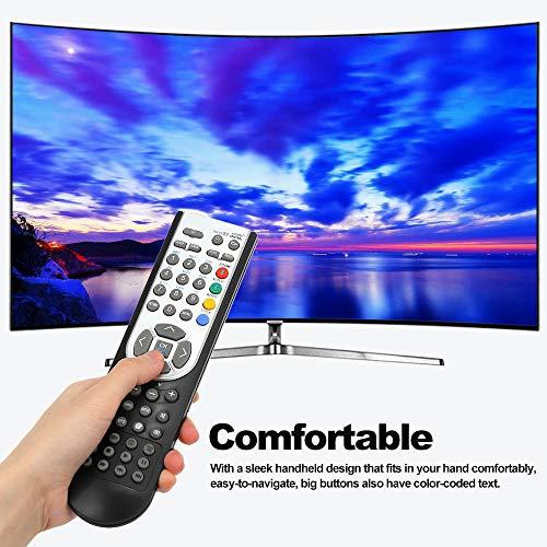 Docooler RC1900 Mando a Distancia para Oki HITACHI Alba CELCUS Luxor GRUNDIG Sharp JMB TELEFUNKEN Bush TECHWOOD Akai NEVIR SANYO LCD LED Plasma Smart TV Negro