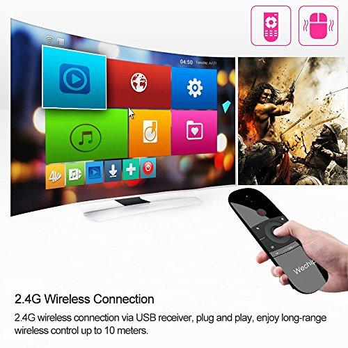 Docooler wechip W1ratón Aire 2.4g inalámbrico Teclado Mando a Distancia por Infrarrojos Sentido del Movimiento de 6Ejes con Receptor USB para Smart TV Android TV Box PC portátil