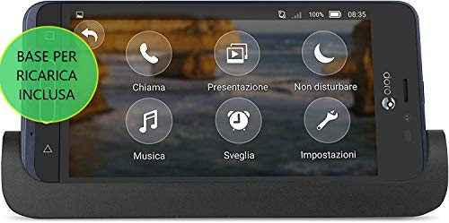 """Doro PHONE EASY 8035 - Smartphone de 5"""" (Qualcom MSM 8909 1.3 Ghz, memoria 16 GB ampliable hasta NanoSD de 32 GB, cámara de 5 MP, Android 7.1) color azul"""