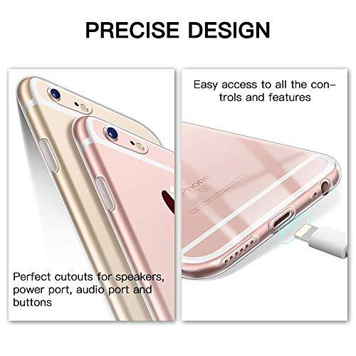 DOSMUNG Funda para iPhone 6 iPhone 6s, Ultra Fina Suave TPU Gel Carcasa, Anti- Choques, Anti- Arañazos, Protección a Bordes y Cámara, Carcasa para iPhone 6/6s - Transparente