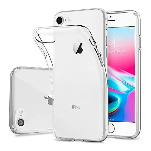DOSMUNG Funda para iPhone SE 2020 iPhone 7/8, Ultra Fina Suave TPU Carcasa, Anti- Choques, Anti- Arañazos, Protección a Bordes y Cámara, Carcasa para iPhone 7/8/SE 2020
