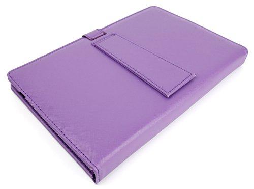 DURAGADGET Funda/Teclado Color Morado En ESPAÑOL con Letra Ñ para Sony Xperia Z/Tablet S - con Conexión MicroUsb + Lápiz Stylus