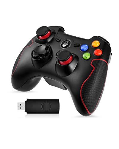 EasySMX Gamepad para PC, [Regalos Originales] Mando Inalámbrico PS3 Gamepad Wireless Compatible con Windows XP y Vista, Windows 7/8 /8.1/10, PS3, Android y Operación Rango hasta 10M