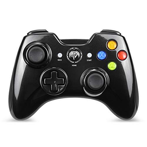 EasySMX Mando Inalámbrico, [Regalo] 2.4GHz Mandos PS3 con Batería Incorporada, Gaming Controller Gamepad Joystick con Doble Vibración para Windows/PS3/PC/Andriod TV Box