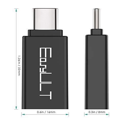 EasyULT Adaptador USB C a USB 3.0 [4 Pack], Tipo-C a USB 3.1 Adaptador con OTG para Huawei P10 Lite, Chromebook, Galaxy s8/s8+, LG G5 y Otros Dispositivos con USB C (Negro)